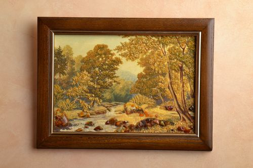 Amber decorated painting Landscape - MADEheart.com
