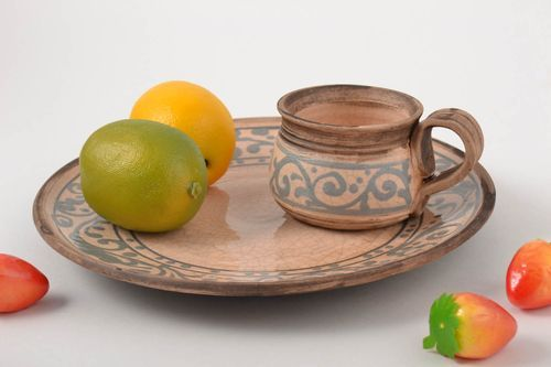 Handmade unusual plates interesting kitchen decor designer beautiful cup - MADEheart.com