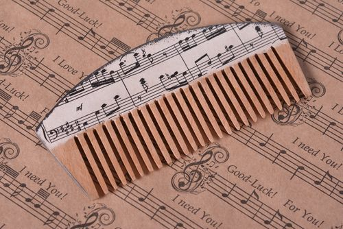 Handmade comb hair comb hair accessories elite jewelry wooden jewelry - MADEheart.com