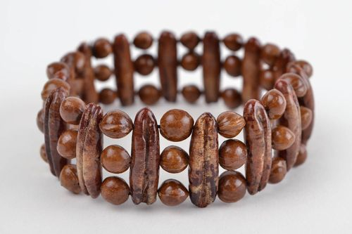 Bead bracelet handmade bracelet wooden jewelry fashion accessories gift ideas - MADEheart.com