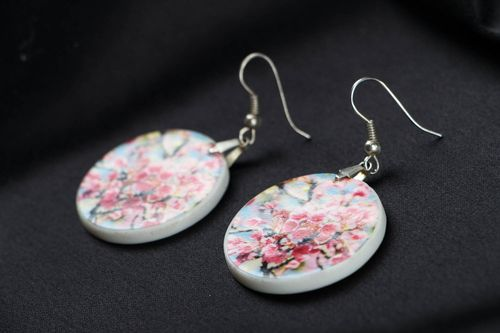 Earrings made ​​of polymer clay Spring - MADEheart.com