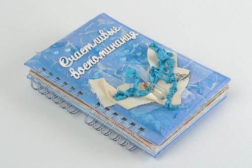 Handmade scrapbooking travel book unusual notebook memory keeping crafts - MADEheart.com
