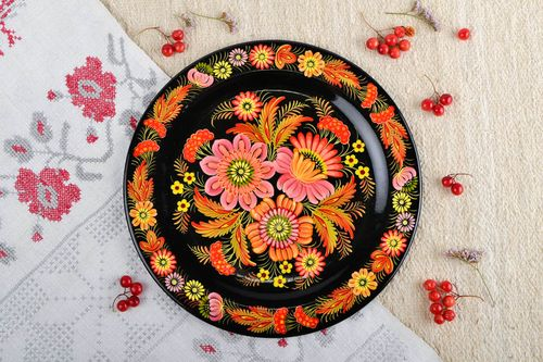 Homemade wall decor wooden plate for decorative use only folk art wooden gifts - MADEheart.com