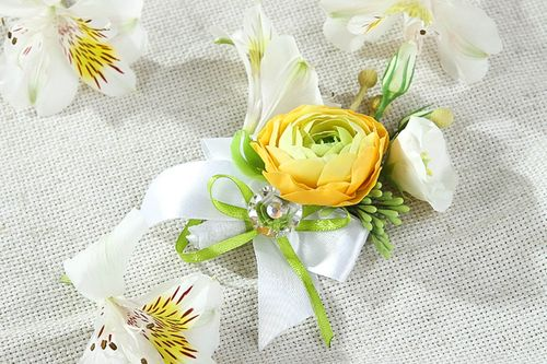 Unusual handmade groom boutonniere wedding attire wedding accessories ideas - MADEheart.com
