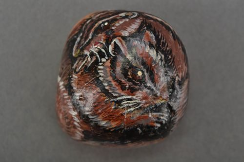 Stone with painting Chipmunk - MADEheart.com