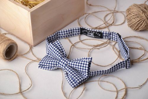 Checkered bow tie - MADEheart.com