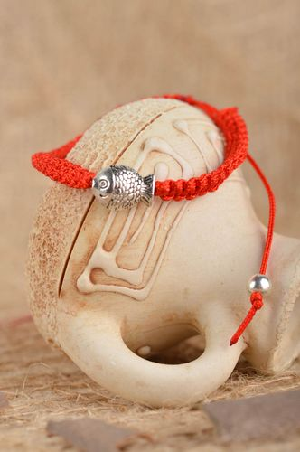 Beautiful handmade string bracelet wax thread bracelet costume jewelry - MADEheart.com