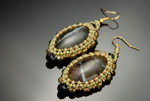 Earrings with african opal - MADEheart.com