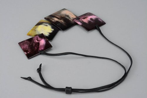 Stylish necklace made of cow horn - MADEheart.com