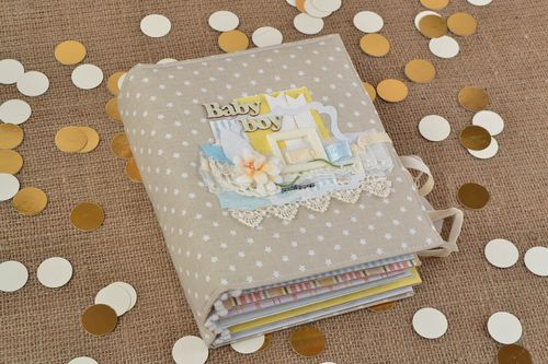 Beautiful handmade colorful lovely childrens album for boy scrapbooking - MADEheart.com