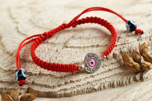 Handmade woven thread bracelet textile friendship bracelet cool jewelry designs - MADEheart.com