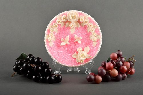 Handmade pink tender plate unusual wedding accessory decorative use only - MADEheart.com