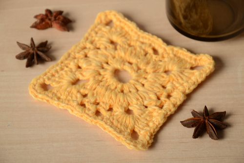 Beautiful handmade crochet coaster hot pads home design the dining room - MADEheart.com
