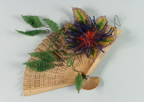 Decorative element made of beads Clematis - MADEheart.com