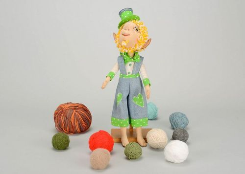 Soft toy Leprechaun in hat - MADEheart.com