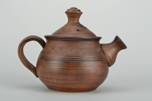 Ceramic teapot kilned with milk 600 ml - MADEheart.com