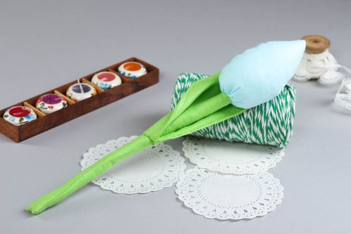 Unusual hadmade textile flower toy decorative flowers small gifts for decor only - MADEheart.com