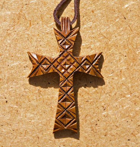 Carved pectoral cross - MADEheart.com