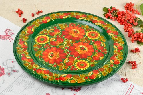Unusual handmade plate wooden wall plate wall panel design decorative use only - MADEheart.com