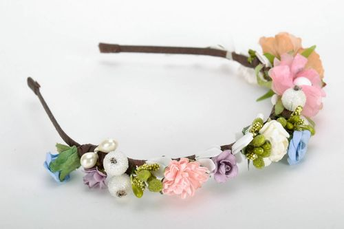 Headband with flowers - MADEheart.com