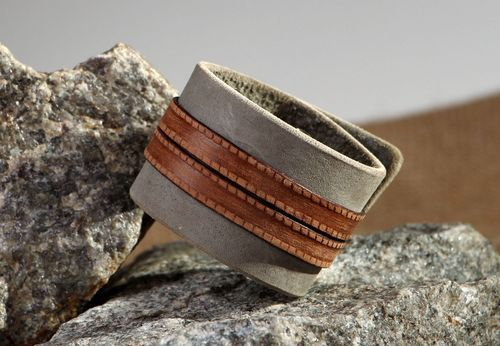 Leather Bracelet of  with embossing - MADEheart.com