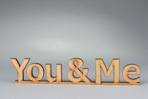 Chipboard lettering You & Me - MADEheart.com