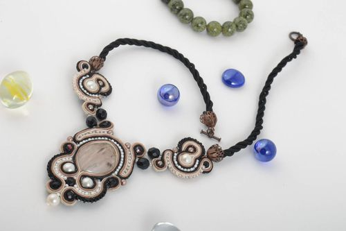 Beautiful handmade soutache necklace fashion accessories for girls gifts for her - MADEheart.com