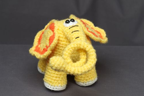 Crochet toy Yellow Elephant - MADEheart.com