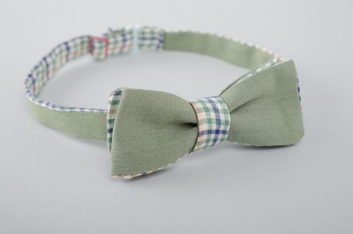 Two-sided fabric bow tie - MADEheart.com