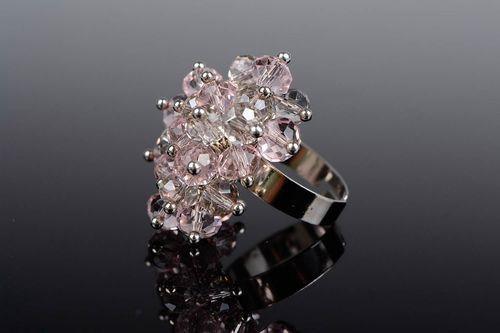 Ring with Czech crystal - MADEheart.com