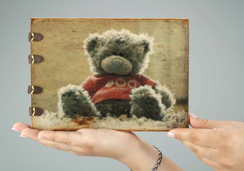 Handmade photo album Plush Bear - MADEheart.com