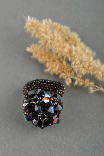 Handmade ring designer ring unusual accessory women beaded ring gift ideas - MADEheart.com
