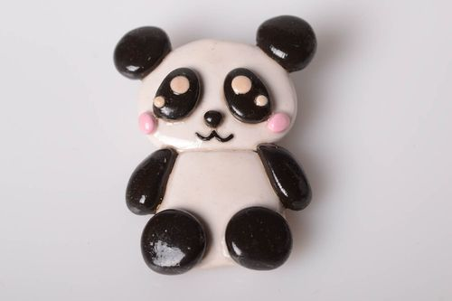 Polymer clay brooch handmade jewelry women brooch cute panda badges accessories - MADEheart.com