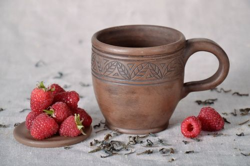 Clay tea cup - MADEheart.com