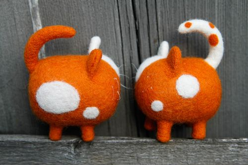 Felted toys handmade woolen toys present for children nursery decor ideas - MADEheart.com