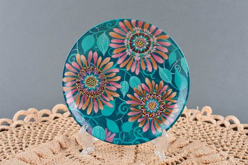 Decorative wall plate handmade table decor interior plate decorative use only - MADEheart.com