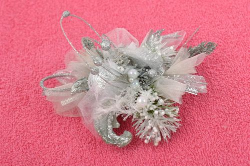 Handmade wedding accessory designer brooch unusual boutonniere flower brooch - MADEheart.com