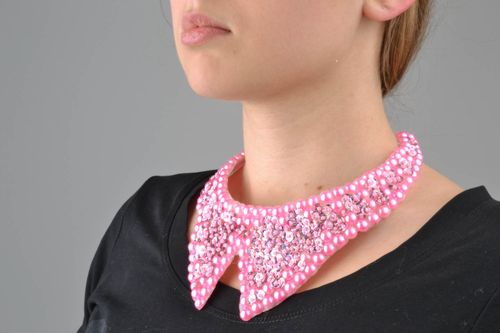 Pink removable collar - MADEheart.com