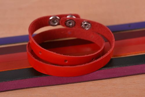 Beautiful handmade leather bracelet leather goods cool accessories for girls - MADEheart.com