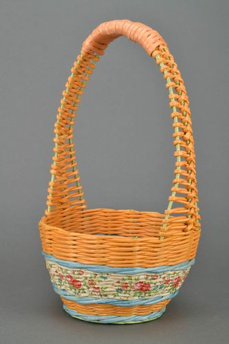 Basket woven of paper rod Storks - MADEheart.com