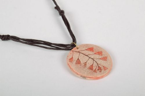 Ceramic pendant with glaze - MADEheart.com