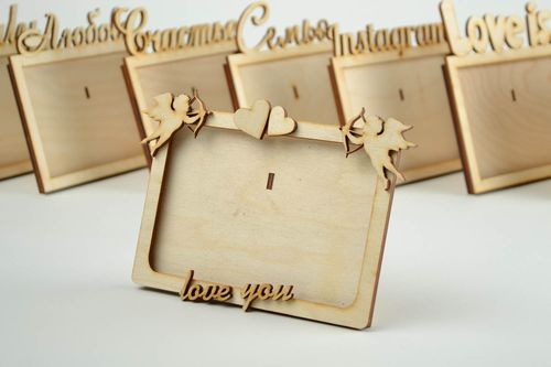 Materials for creative work handmade wooden photo frame for painting home decor - MADEheart.com