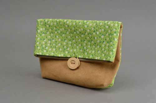 Unusual homemade fabric beauty bag designer textile cosmetic bag gifts for her - MADEheart.com