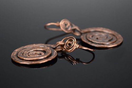 Spiral earrings - MADEheart.com