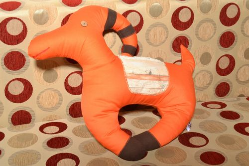 Handmade funny large soft pillow pet in the shape of orange goat for childs room - MADEheart.com
