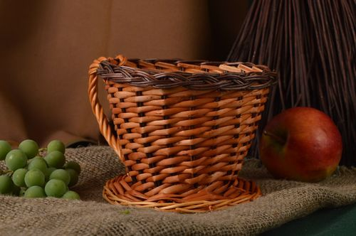 Handmade woven cachepot interior decorating home goods decorative use only - MADEheart.com