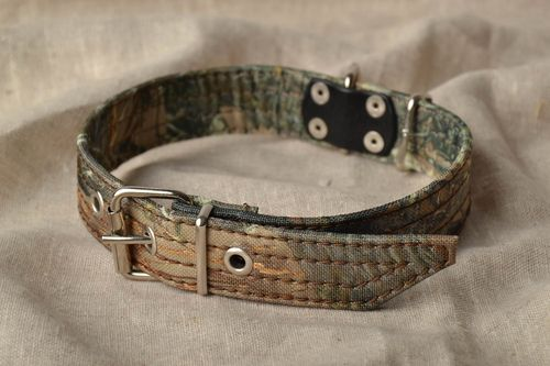 Camouflage fabric dog collar - MADEheart.com