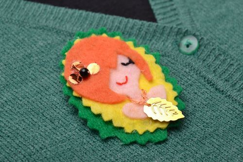 Childrens brooch Forest fairy - MADEheart.com