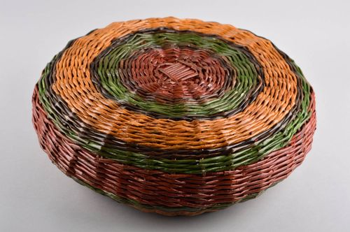 Wicker basket home decor handmade woven basket interior decor ideas home box - MADEheart.com