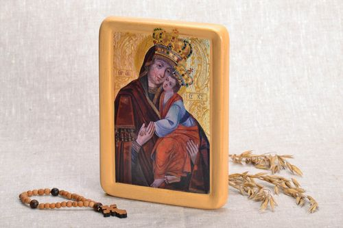 Printed copy of the icon of the Verkhrat Mother of God  - MADEheart.com
